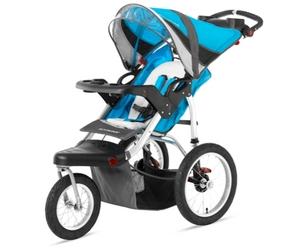 Schwinn Turismo Swivel Single Jogger Review - Blue/Grey